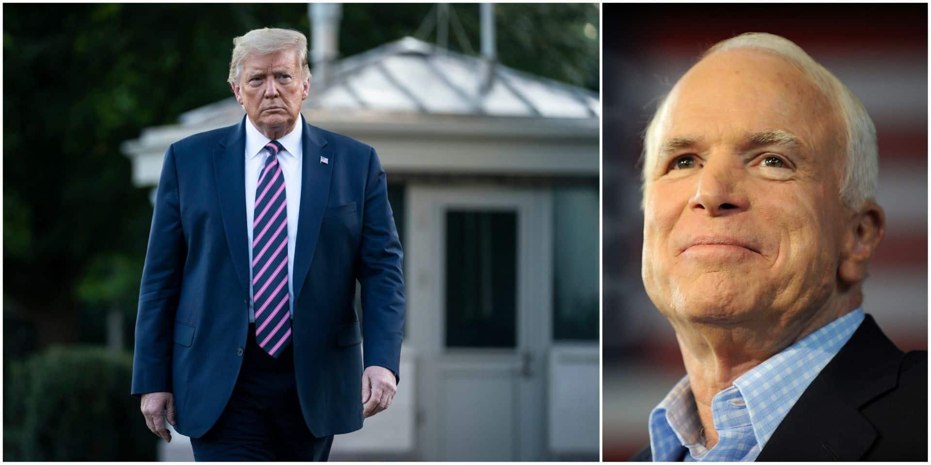Dans un tweet, Trump s'acharne contre John McCain, sénateur républicain décédé