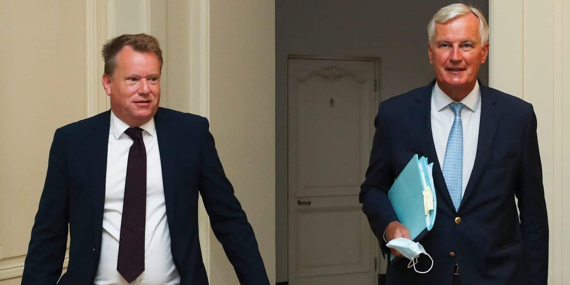 David Frost, le négociateur en chef du Brexit pour le Royaume-Uni, et Michel Barnier, le négociateur européen, se renvoient la balle.