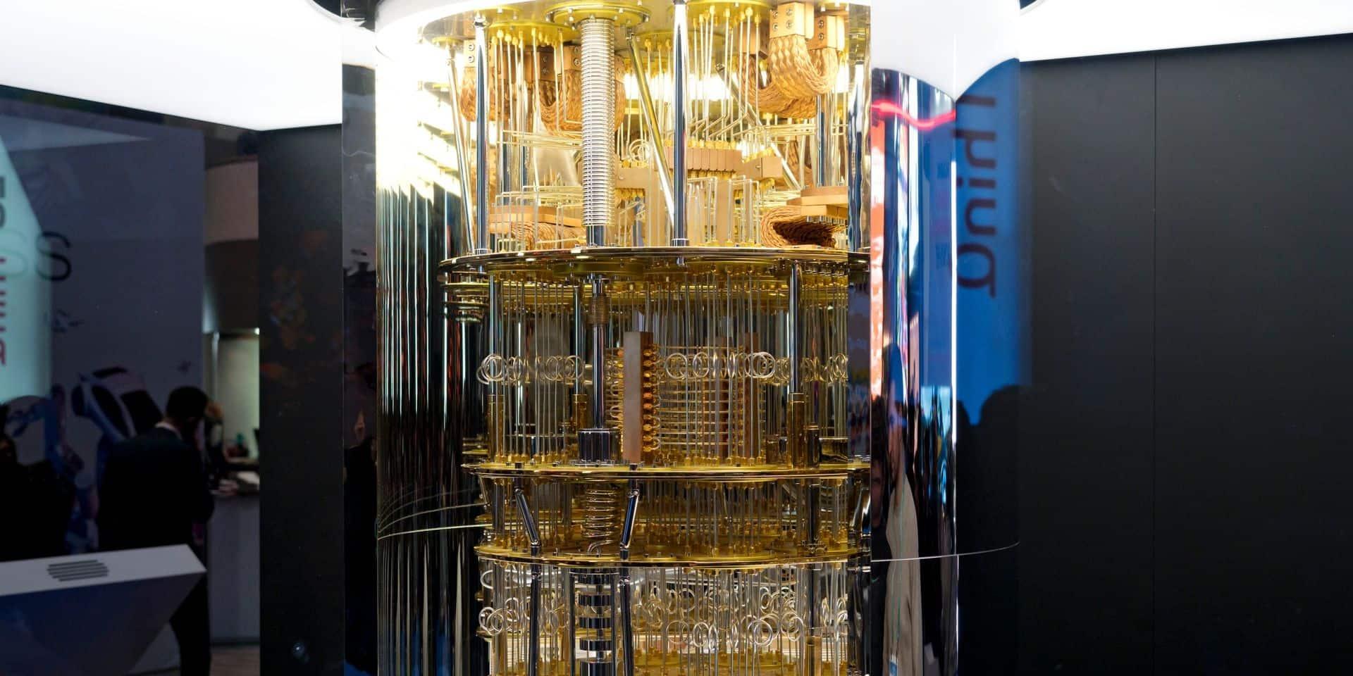 L'ordinateur quantique présenté par IBM au Computer Electronic Show de Las Vegas en 2020.