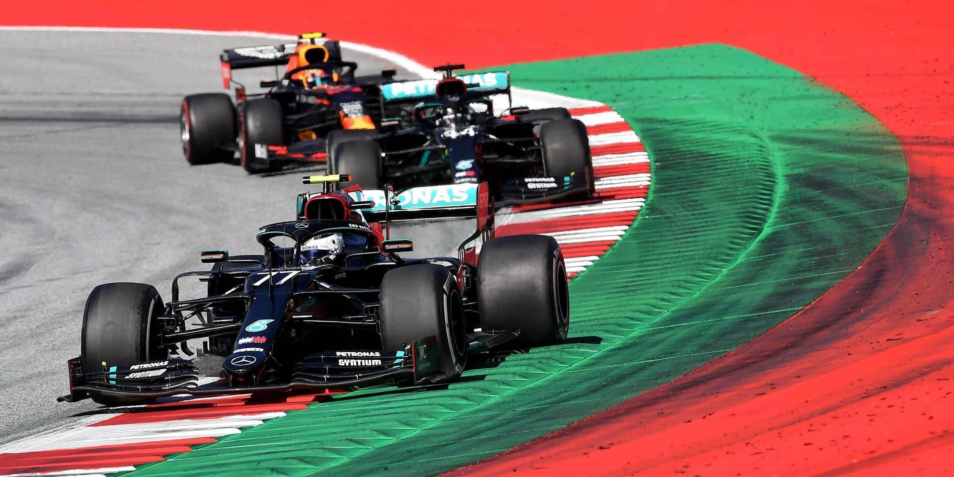 Bottas remporte un premier GP spectaculaire et à huis clos en Autriche