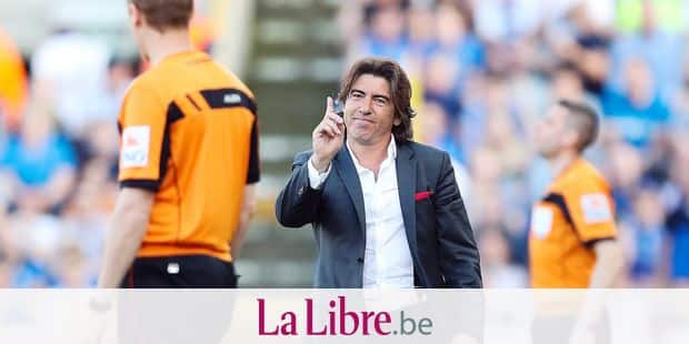Standard's head coach Ricardo Sa Pinto pictured during the Jupiler Pro League match between Club Brugge and Standard de Liege, in Brugge, Sunday 22 April 2018, on day five (out of ten) of the Play-Off 1 of the Belgian soccer championship. BELGA PHOTO BRUNO FAHY