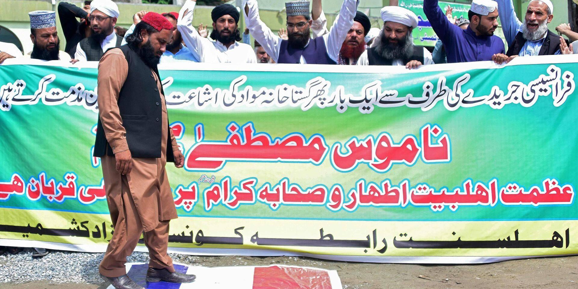 Première manifestation contre la Une de Charlie Hebdo au Pakistan, la colère enfle