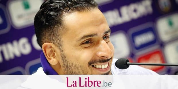 Anderlecht's new player Nacer Chadli pictured during a press conference of Belgian soccer club RSC Anderlecht, Tuesday 13 August 2019 in Brussels. BELGA PHOTO VIRGINIE LEFOUR