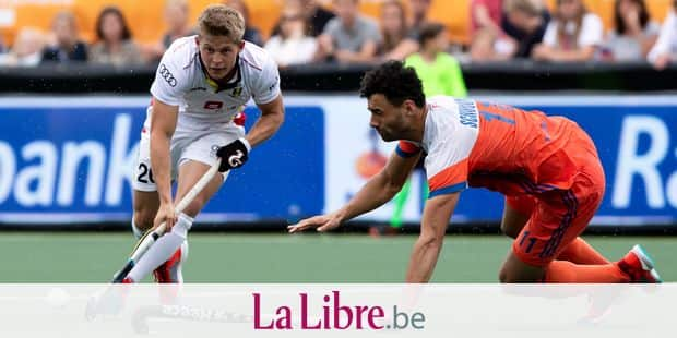 Belgium's Victor Wegnez and Netherlands' Glenn Schuurman pictured during a field hockey game between The Netherlands and Belgium's Red Lions, Sunday 09 June 2019, in 's-Hertogenbosch, The Netherlands, game 10/14 of the men's FIH Pro League competition. BELGA PHOTO KRISTOF VAN ACCOM