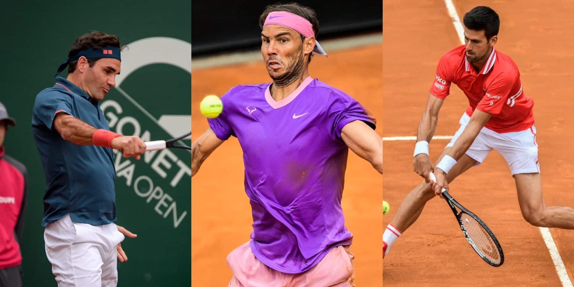 Roland-Garros: Djokovic, Nadal et Federer dans la même moitié de tableau