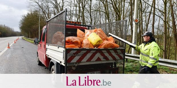 SPW dechets route ramassage propretŽ incivilitŽ circulation travail emploi sale poubelle Wallonie salete