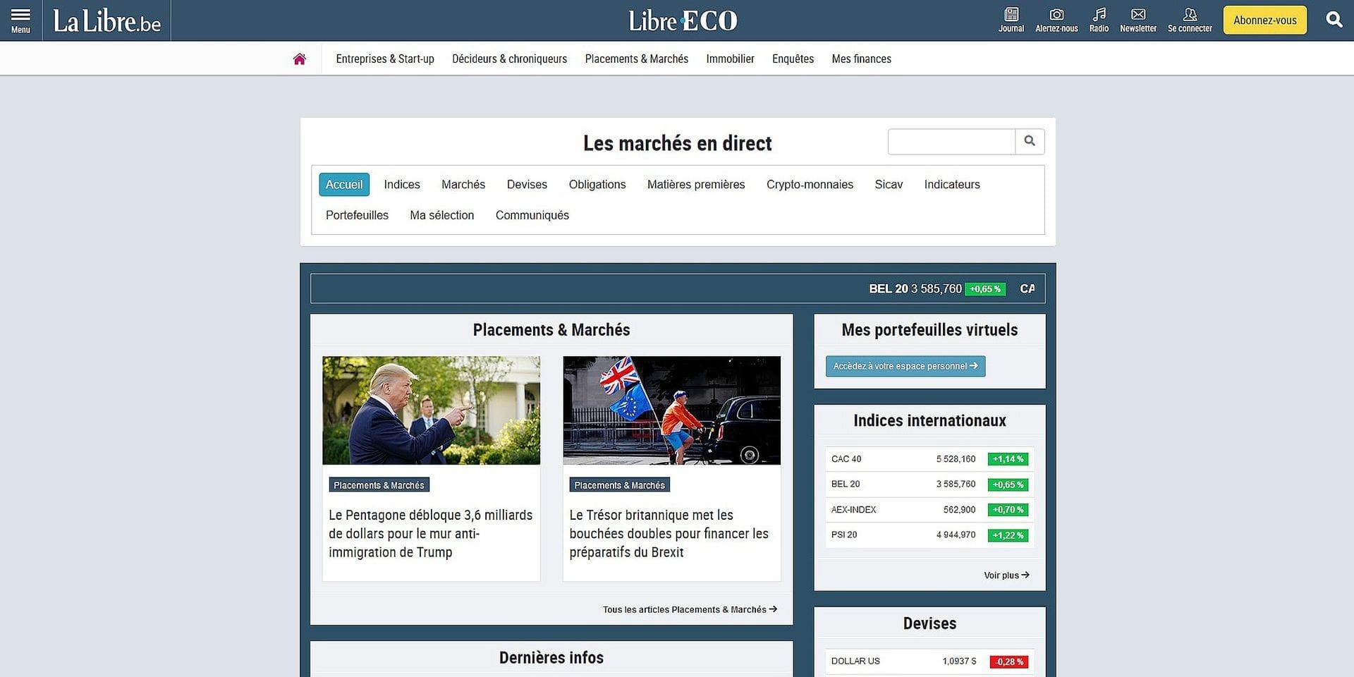 La Libre Eco : une aide à la décision financière et à la gestion de patrimoine
