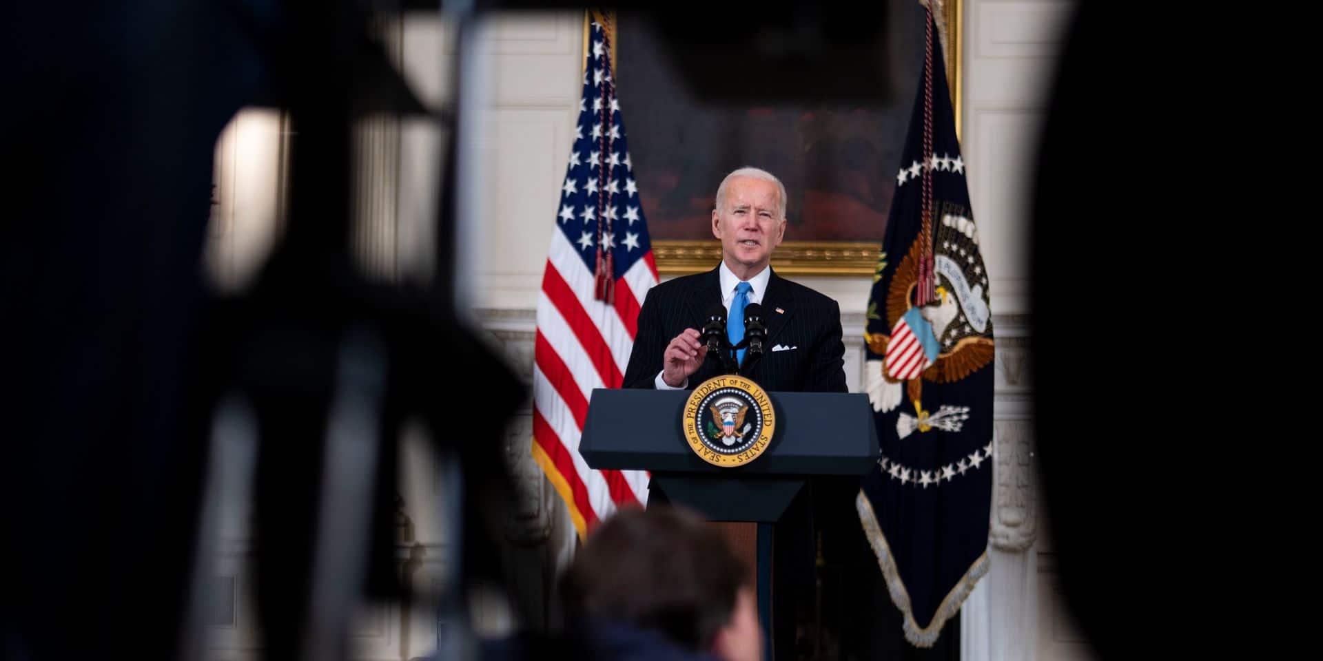 Biden Announces Partnership between Johnson and Johnson and Merck to Produce Covid Vaccine