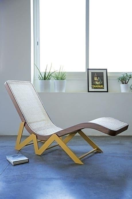 Le cannage a la cote et séduit tant les designers prestigieux qu' Ikea. Tout le monde se met à cette technique de tissage de la canne de rotin. Le must ? Cette chaise longue des designers Atelier130 en acier, hêtre et rotin.                                                                                                     Chaise longue Rakwe, Kann Design, 1540 euros
