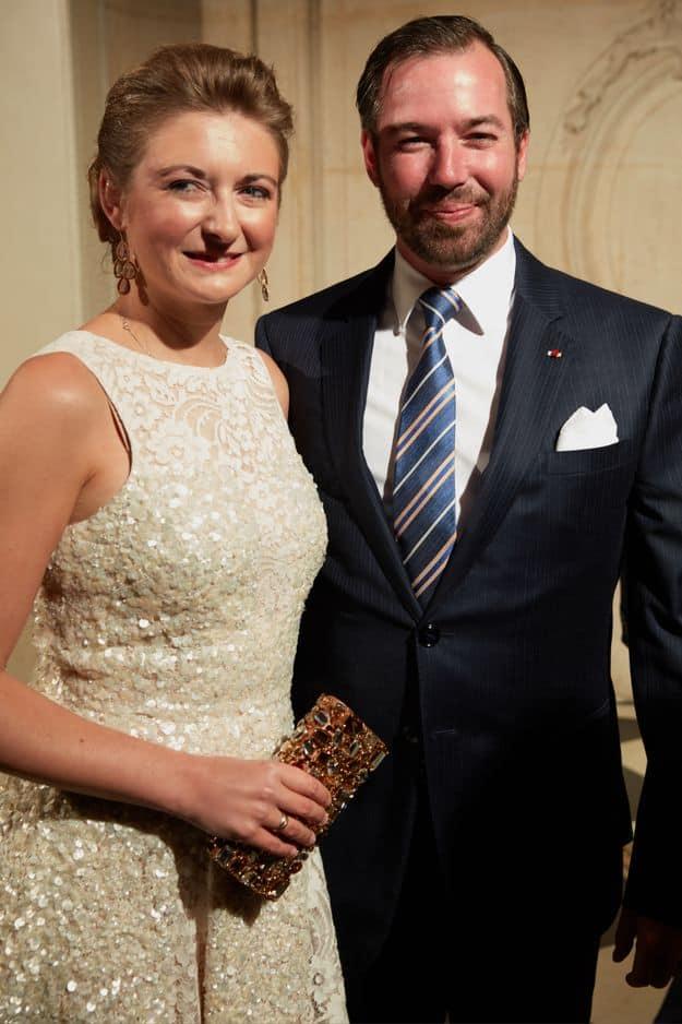 La grande-duchesse héritière Stéphanie et le grand-duc héritier Guillaume.