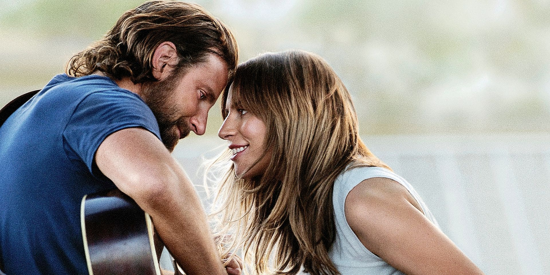 """This image released by Warner Bros. Pictures shows Bradley Cooper, left, and Lady Gaga in a scene from """"A Star is Born."""" (Warner Bros. Pictures via AP)"""