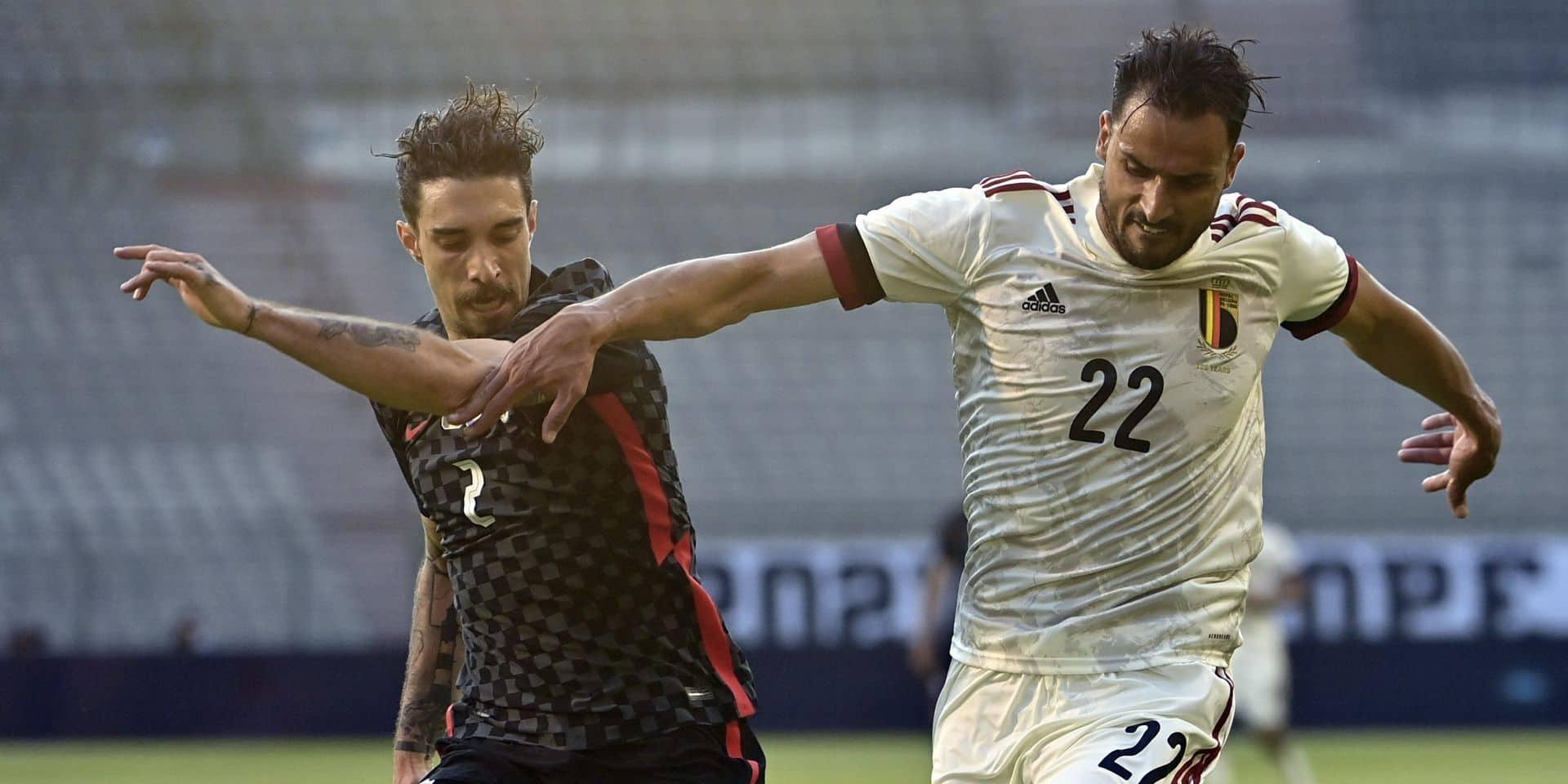 """Nacer Chadli convaincant face à la Croatie : """"J'avais besoin de jouer ces 70 minutes"""""""