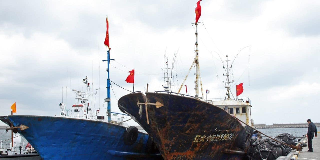 """Des bateaux chinois """"dissimulés"""" suspectés de """"piller"""" les eaux argentines"""