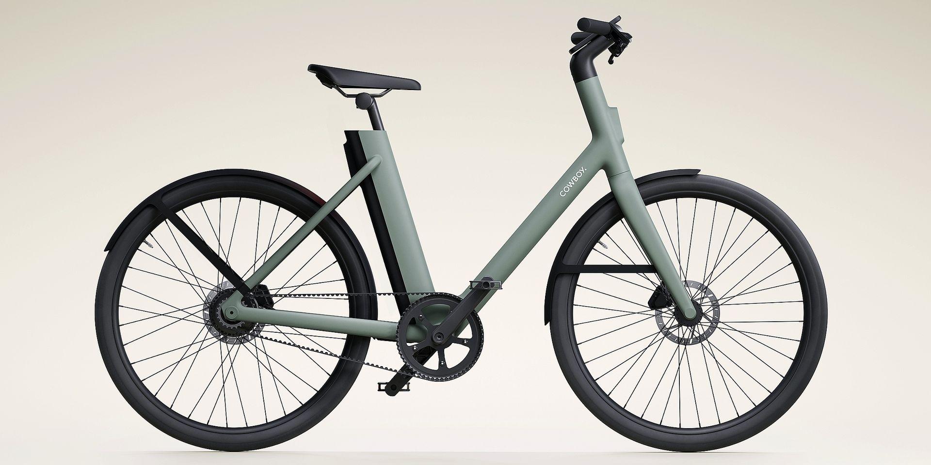 """Désormais, le vélo électrique belge Cowboy sera aussi disponible avec un """"cadre bas"""". Une nouveauté qui devrait plaire autant aux hommes qu'aux femmes."""