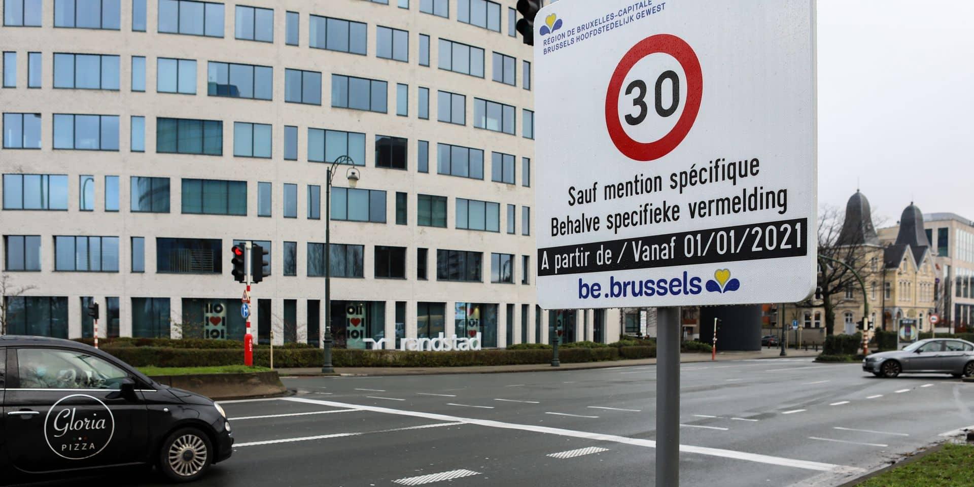 """La zone 30 généralisée à Bruxelles remise en cause: """"Les juges seront libres de décider si la mesure est abusive"""""""
