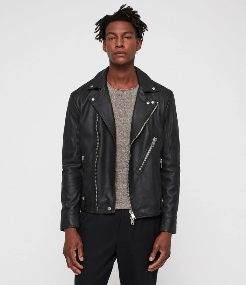 Un perfecto de biker:                 All Saints,                 450 euros