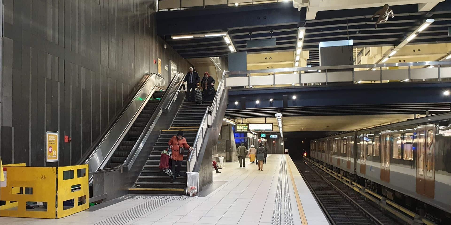 Stib: les escalators des stations trop souvent à l'arrêt