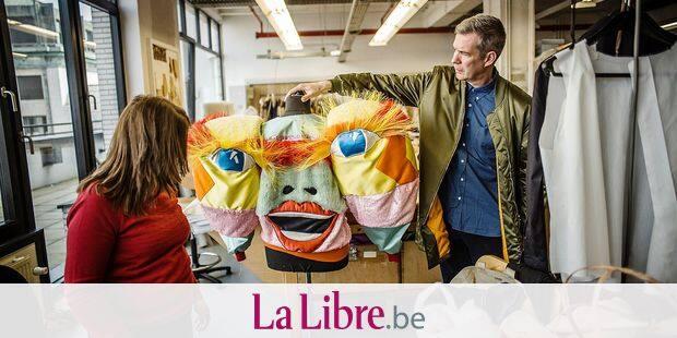 20170330 - BELGIQUE, BRUXELLES: Christophe Coppens dans la creation de son opera : le mandarin merveilleux / le chateau de barbe bleu , le 30 mars 2018. PHOTO OLIVIER PAPEGNIES / COLLECTIF HUMA