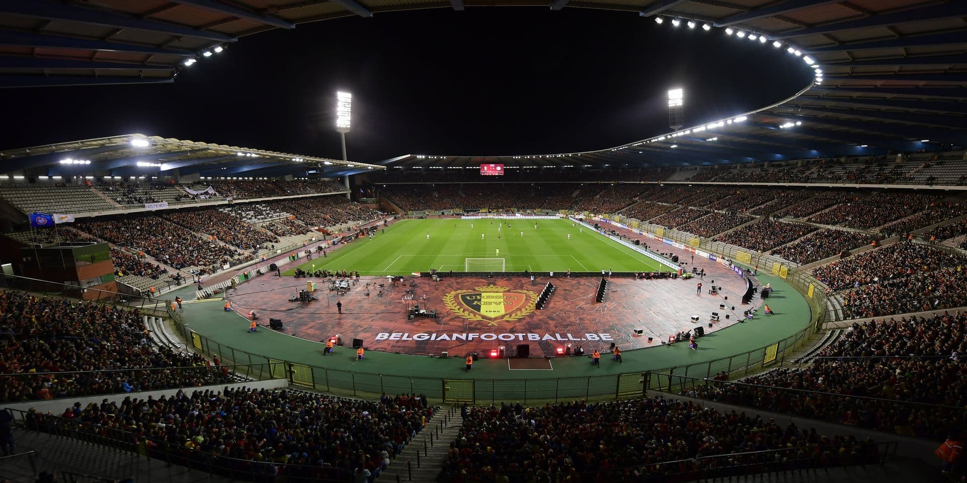 BRUSSELS, BELGIUM - OCTOBER 10 : General stadium view during the World Cup Qualifier Group H match between Belgium and Cyprus at the King Baudouin Stadium on October 10, 2017 in Brussels, Belgium, 10/10/2017 ( Photo by Nico Vereecken / Photonews