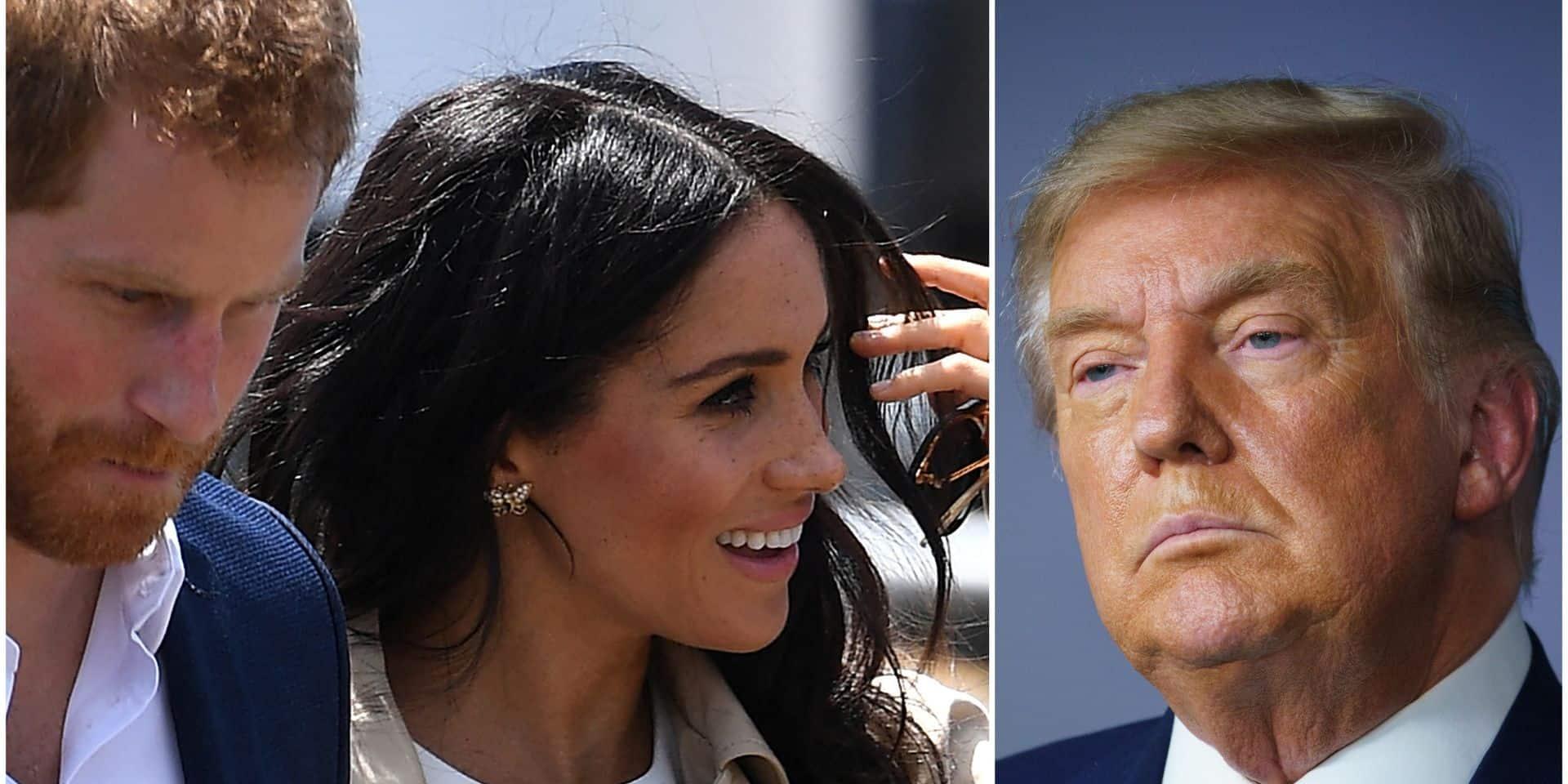 """""""Pas fan"""": Donald Trump lâche un avis tranché sur Meghan Markle et estime qu'elle pourrait l'inciter à se représenter à la présidentielle"""