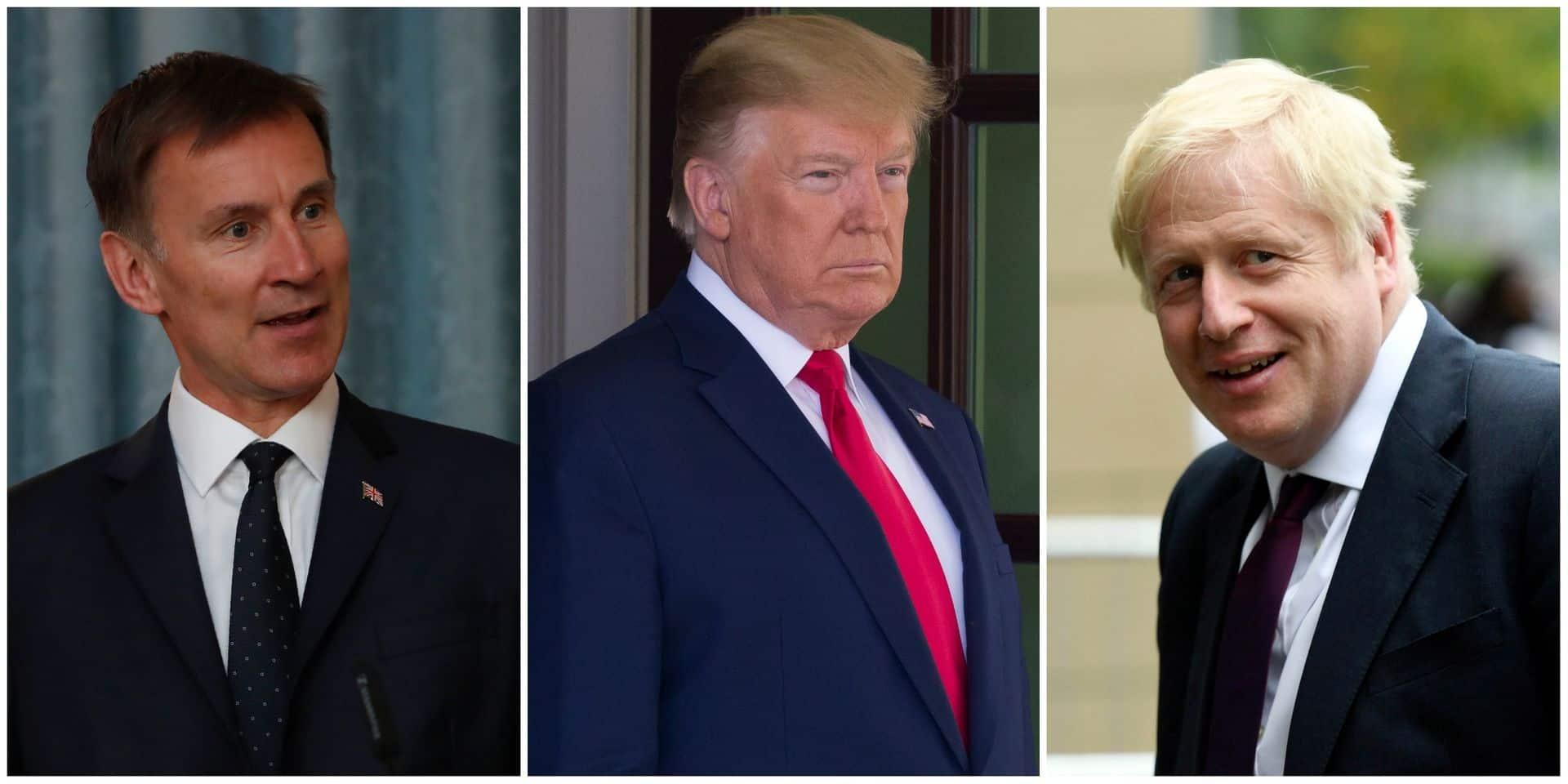 Les deux candidats à la succession de May réagissent tout à fait différemment aux attaques de Trump