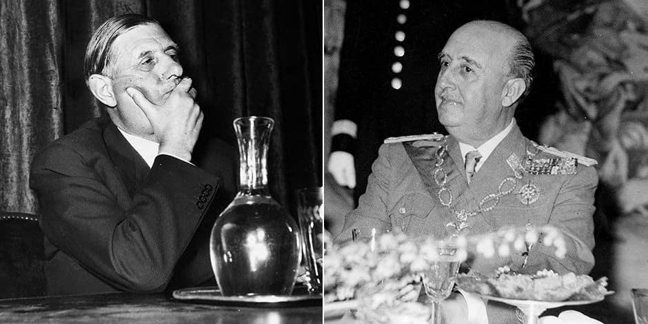 Le déjeuner de de Gaulle et Franco
