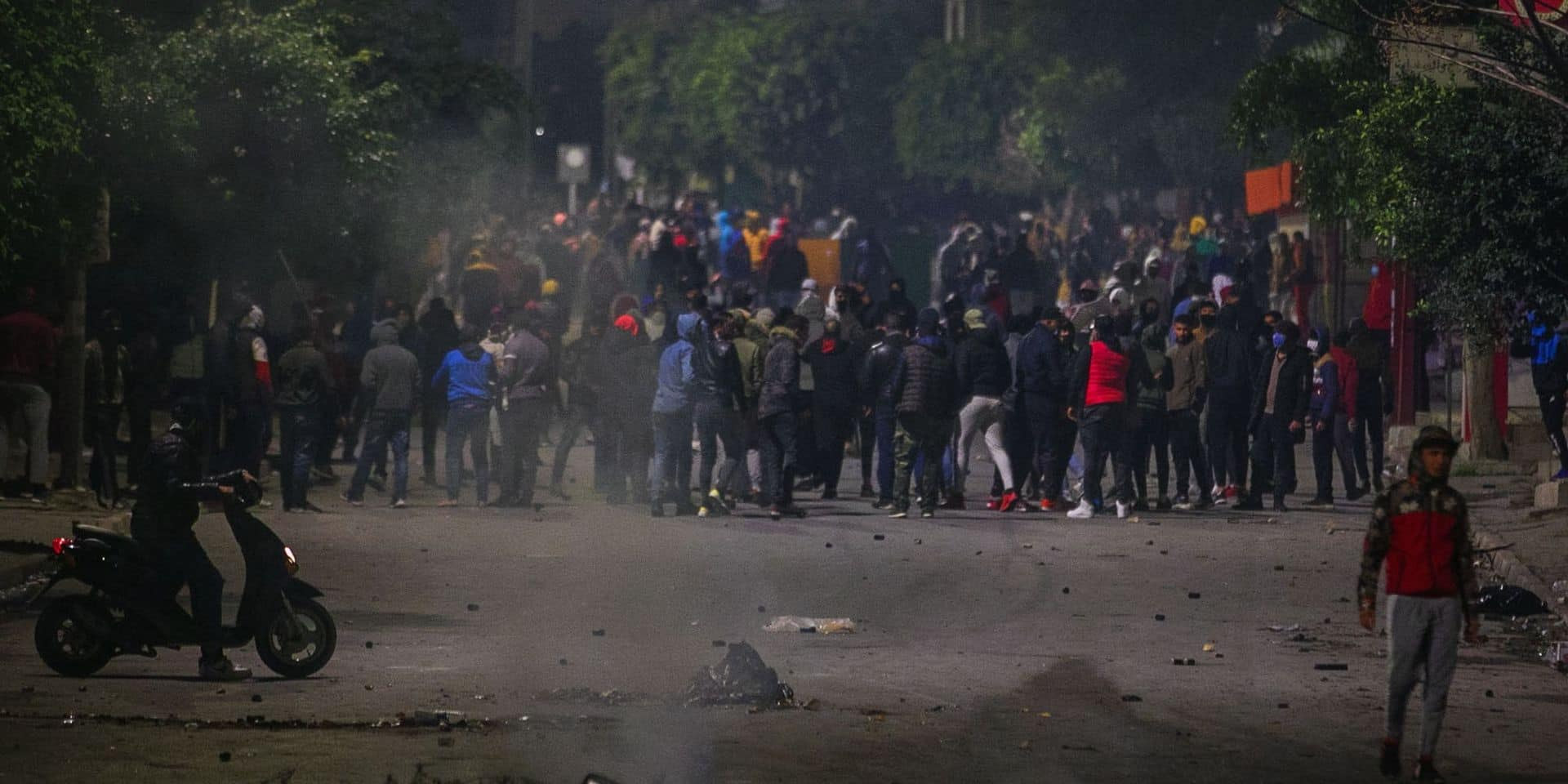 Clashes in Tunis
