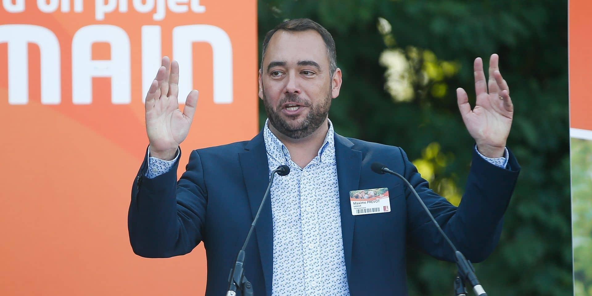 Maxime Prévot visé par un tag insultant et faisant l'apologie du nazisme
