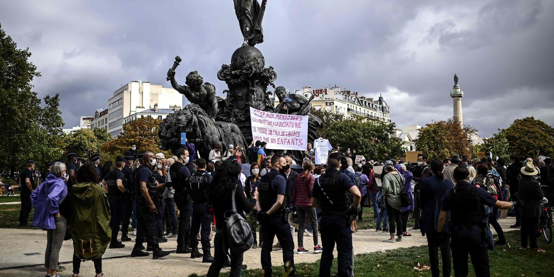 Quelques centaines de manifestants antimasques à Paris