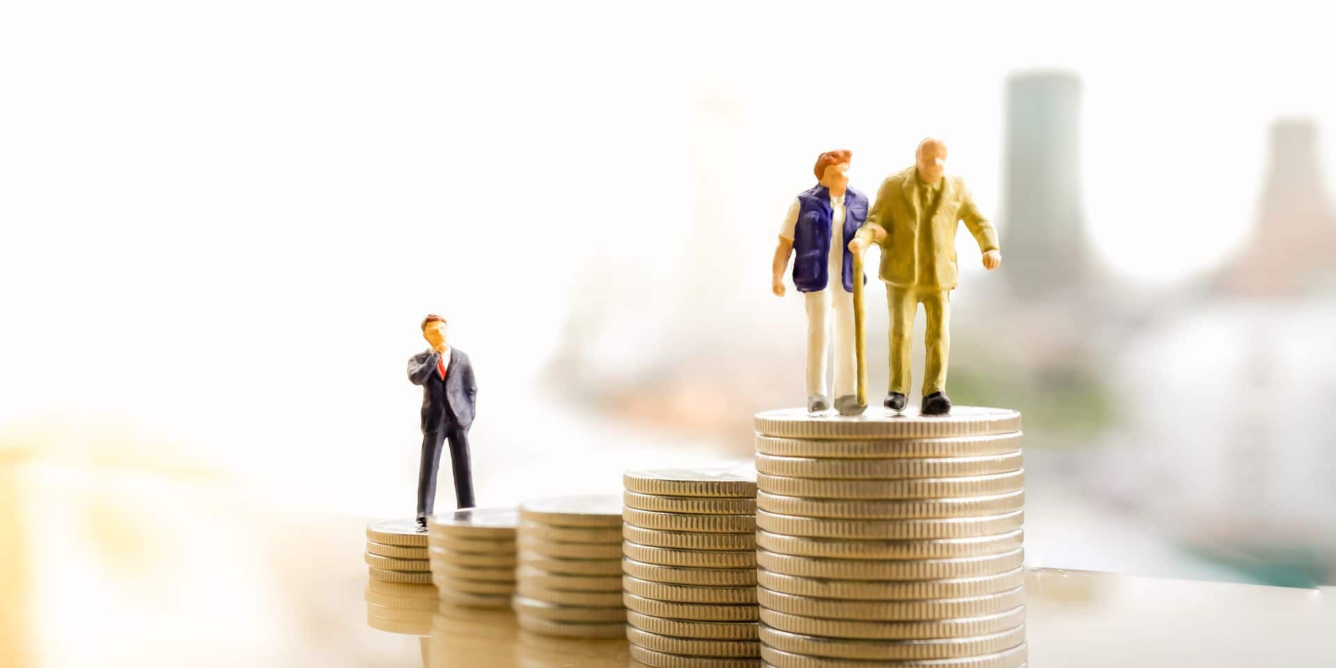 Concept,Of,Retirement,Planning.,Miniature,People:,Old,Couple,Figure,Standing