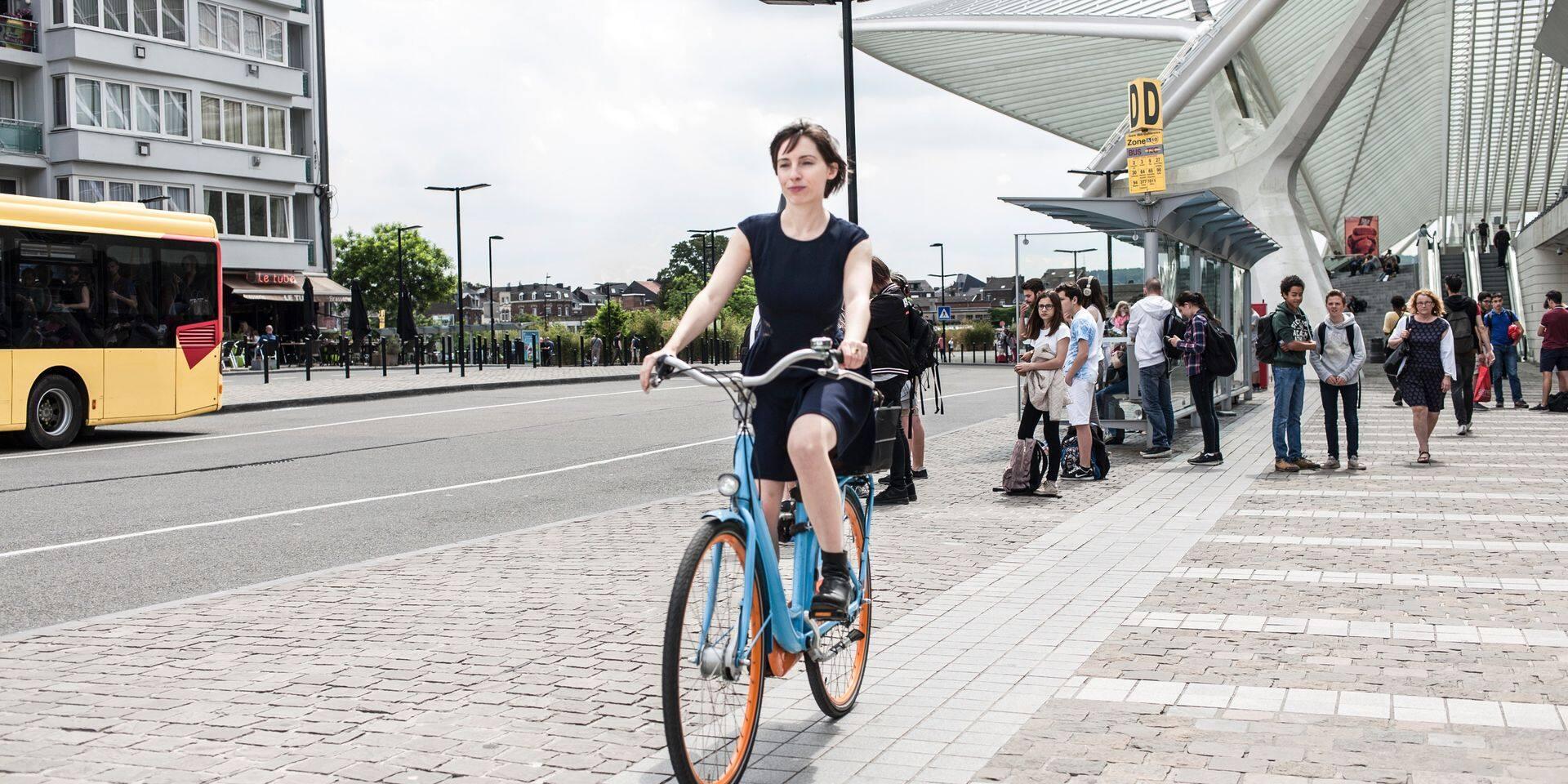 Liège - Gare des Guillemins - location vélos