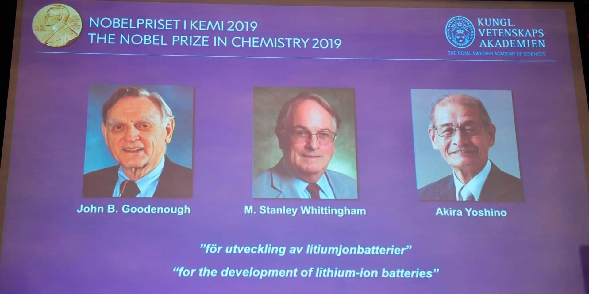 """Le Nobel de chimie honore """"un monde sans fil et rechargeable"""""""