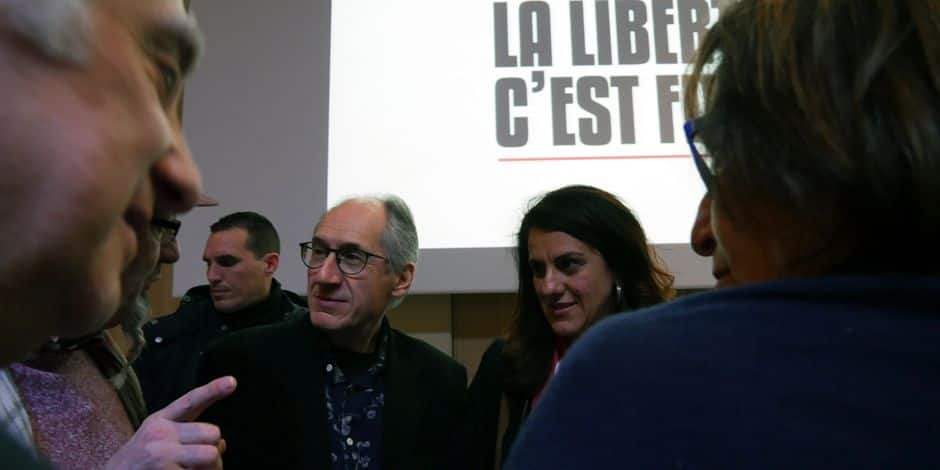 Gérard Biard et Marika Bret, du journal satirique Charlie Hebdo.