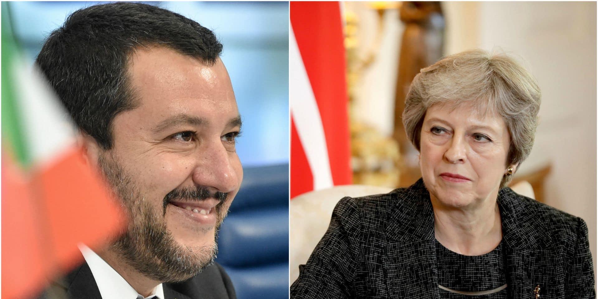 """Brexit: Les conseils de Salvini à Theresa May """"il faut se montrer plus dure dans les négociations"""""""