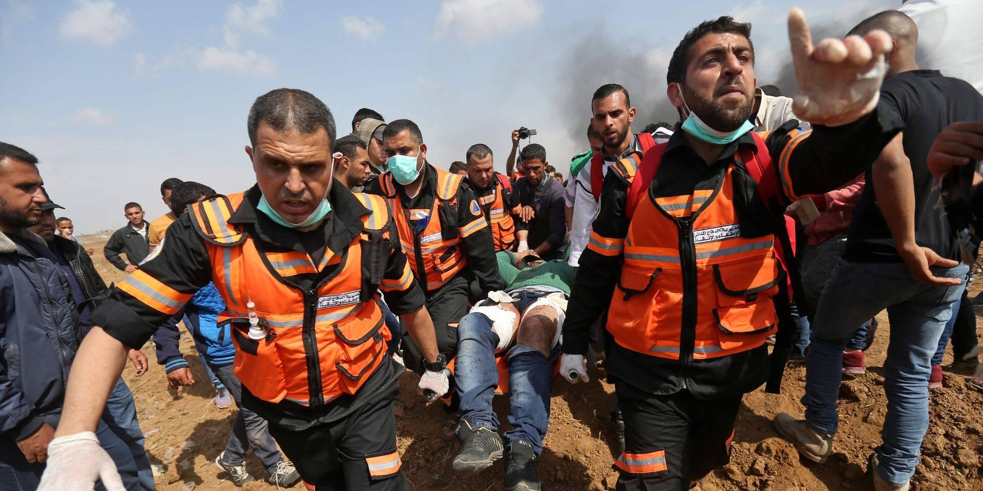 """A Gaza, le carnage continue lors de la """"marche du retour"""""""