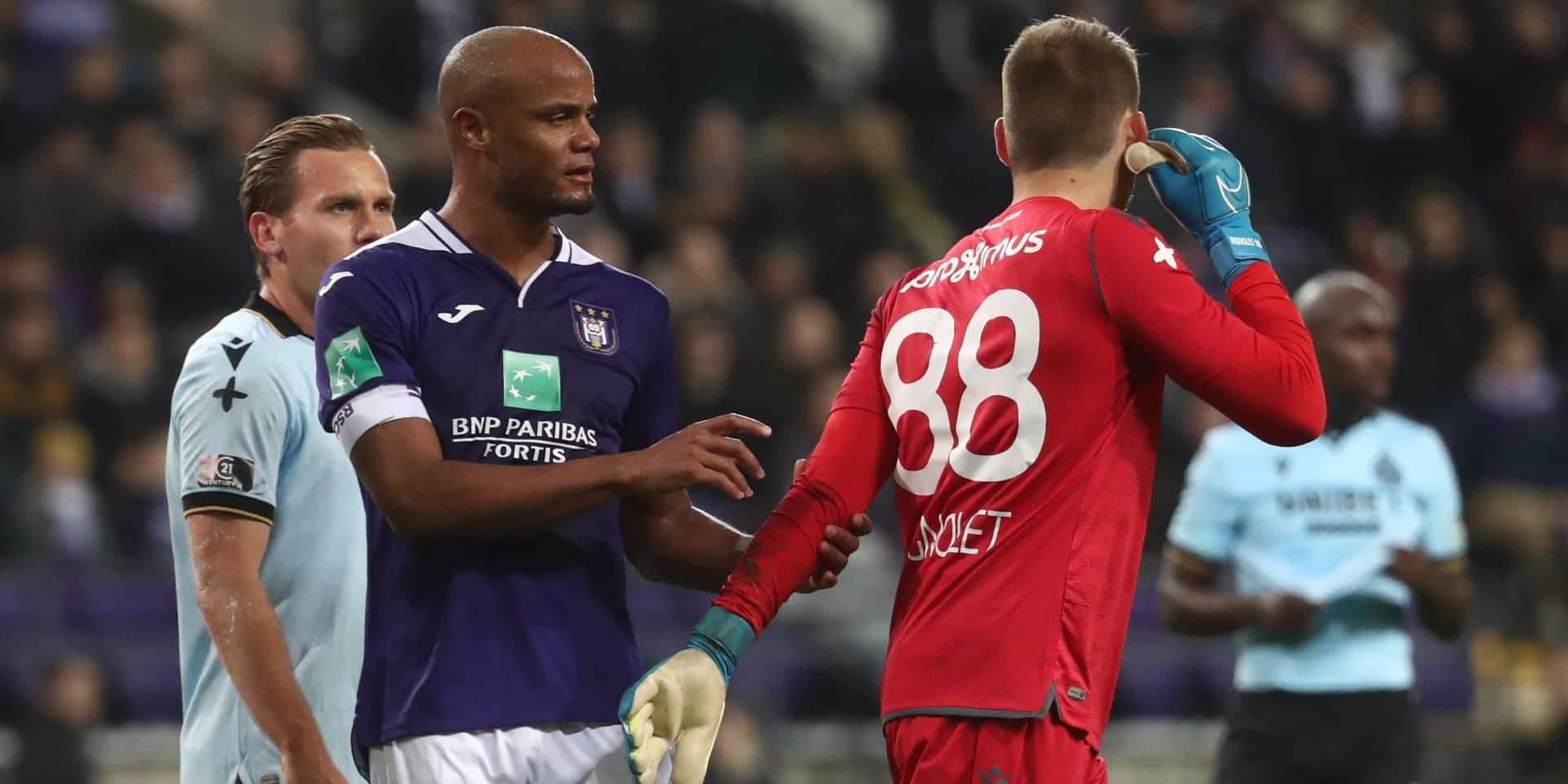 """Vincent Kompany après la défaite des Mauves face à Bruges: """"Notre potentiel est tellement énorme"""""""