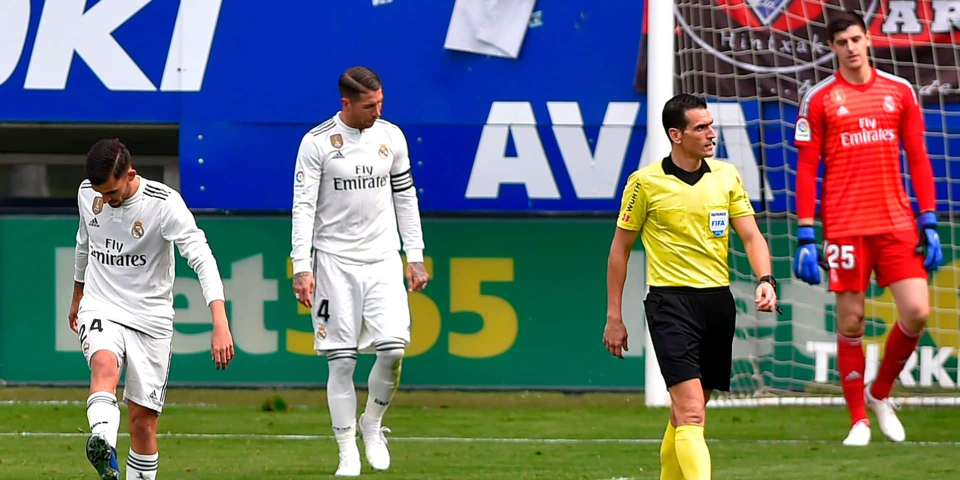 Liga: le Real rechute lourdement à Eibar (3-0), Ramos en difficulté