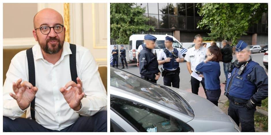 """Charles Michel et Philippe Close adressent leur soutien au policier poignardé à Bruxelles: """"Respect pour l'uniforme"""""""