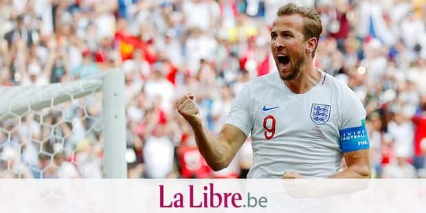 England's Harry Kane celebrates after he scored his side's second goal during the group G match between England and Panama at the 2018 soccer World Cup at the Nizhny Novgorod Stadium in Nizhny Novgorod , Russia, Sunday, June 24, 2018. (AP Photo/Antonio Calanni)