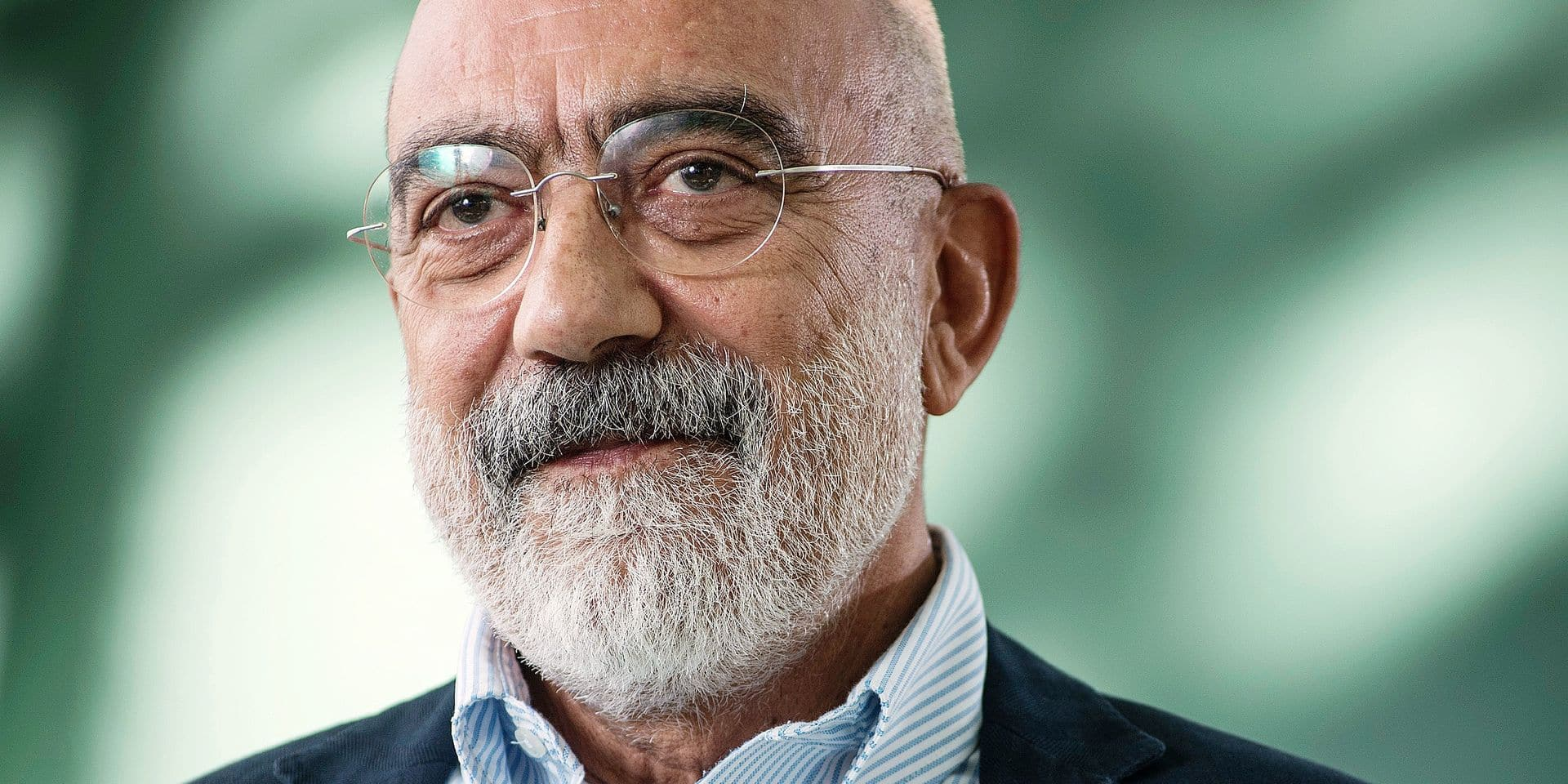 EDINBURGH, SCOTLAND, Thursday 27th, AUGUST 2015: Turkish journalist and author Ahmet Altan appears at the Edinburgh International Book Festival. The two weeks event is the world's biggest literary festival of its kind celebrated annually in Edinburgh, which in 2004 became the World's first UNESCO city of literature. Reporters / Photoshot