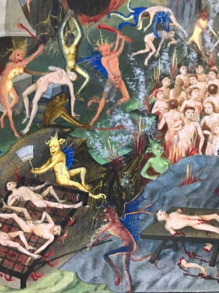 L'enfer, dans le livre de Gérard van Vliederhoven 1455