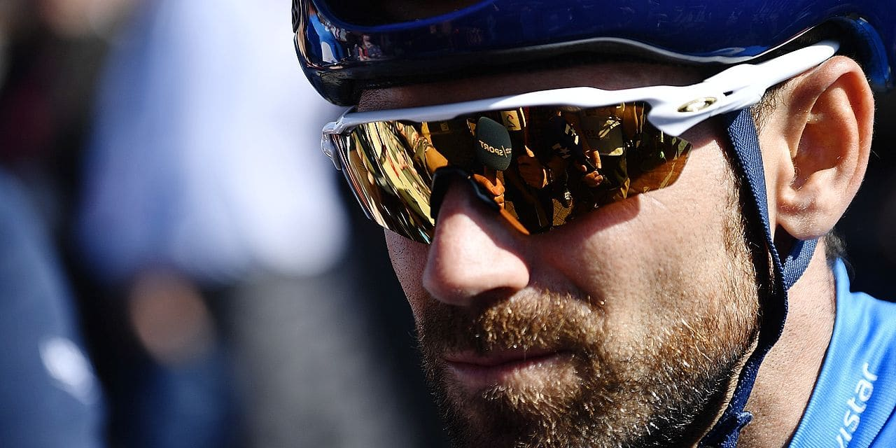 Spanish Alejandro Valverde of Movistar Team pictured at the start of the 82nd edition of the men's race of 'La Fleche Wallonne', a one day cycling race (Waalse Pijl - Walloon Arrow), 198,5km from Seraing to Huy, Wednesday 18 April 2018. BELGA PHOTO ERIC LALMAND