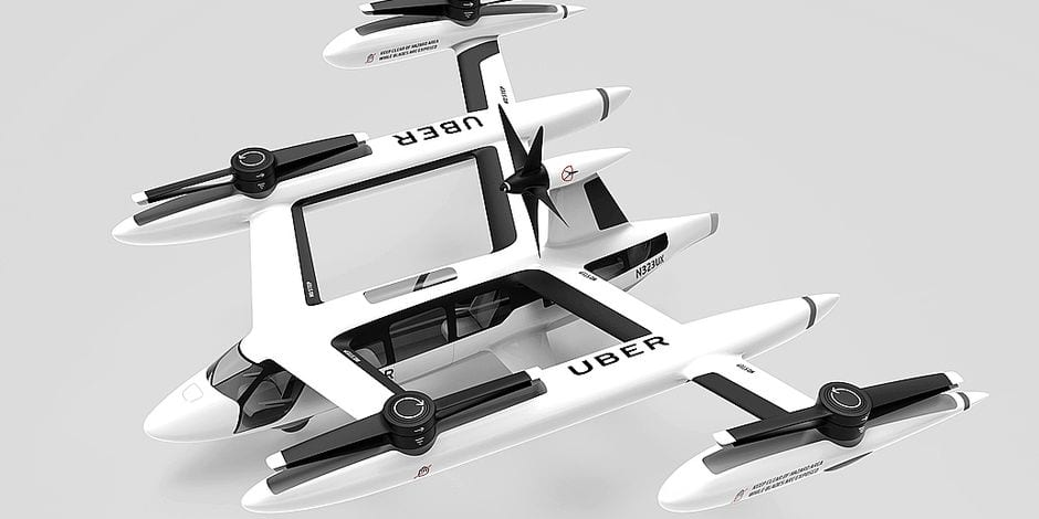 Your Uber is touching down now! Uber has unveiled new design models of flying taxis which the company wants to make affordable and available to the average Joe. The Uber Air program is an ambitious plan to launch a fleet of autonomous flying taxis within the next two years where customers will be able to request the service on their phone and then head to a rooftop port where the aircraft can take off. Uber CEO Dara Khosrowshahi told CBS News at the Uber Elevate Summit in Los Angeles on Tuesday [May 8]: We think cities are going to go vertical in terms of transportation and we want to make that a reality. We want to create the network around those vehicles so that regular people can take these taxis in the air for longer distances when they want to avoid traffic at affordable prices. The plan would be for the flying taxis, which are still in the development stage, to be piloted at first but with the idea that they would become autonomous. The technology is similar to that of a helicopter, but will use a cluster of small propellers that run on electricity and make it quieter, more efficient and more affordable. Uber's chief product officer Jeff Holden told CBS News: One of the key tenets of this technology is for us to have four riders in each vehicle. So, essentially, the cost per ride goes down. The combination of mass market and sharing, which is really what Uber is all about, can bring this to the masses, can make it affordable for normal people. . 09 May 2018 Pictured: Uber unveiled design models of flying taxis as pat of an Uber Air program on Tuesday 8 May, 2018. Photo credit: Uber/MEGA TheMegaAgency.com +1 888 505 6342 Reporters / Mega *** Local Caption *** MEGA216696_001