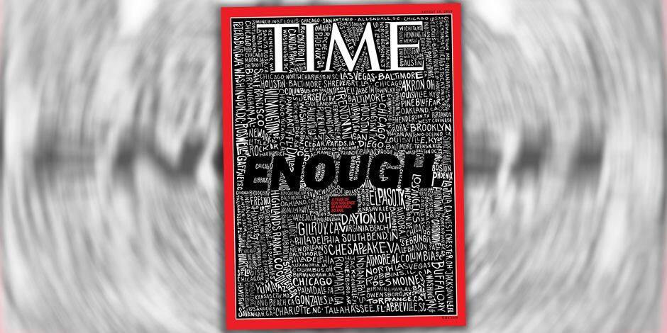 Dans une nouvelle couverture choc, Time répertorie les 253 tueries de masse aux USA cette année