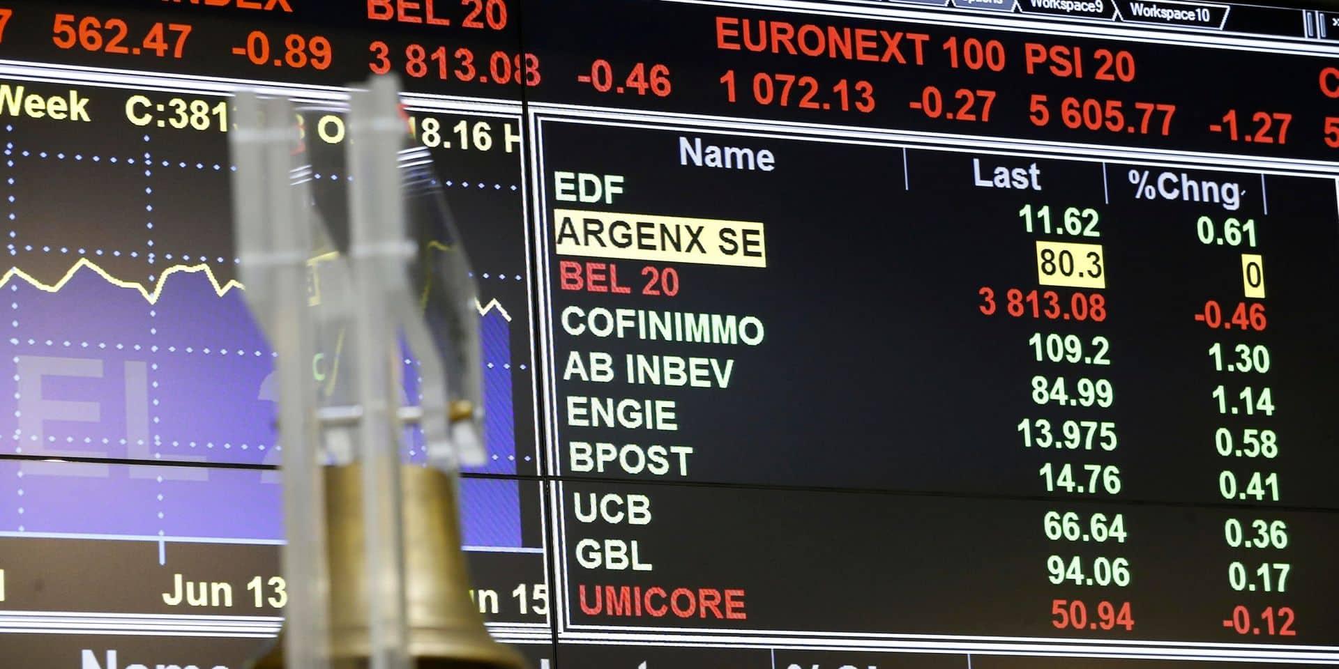 Les Bourses européennes ...