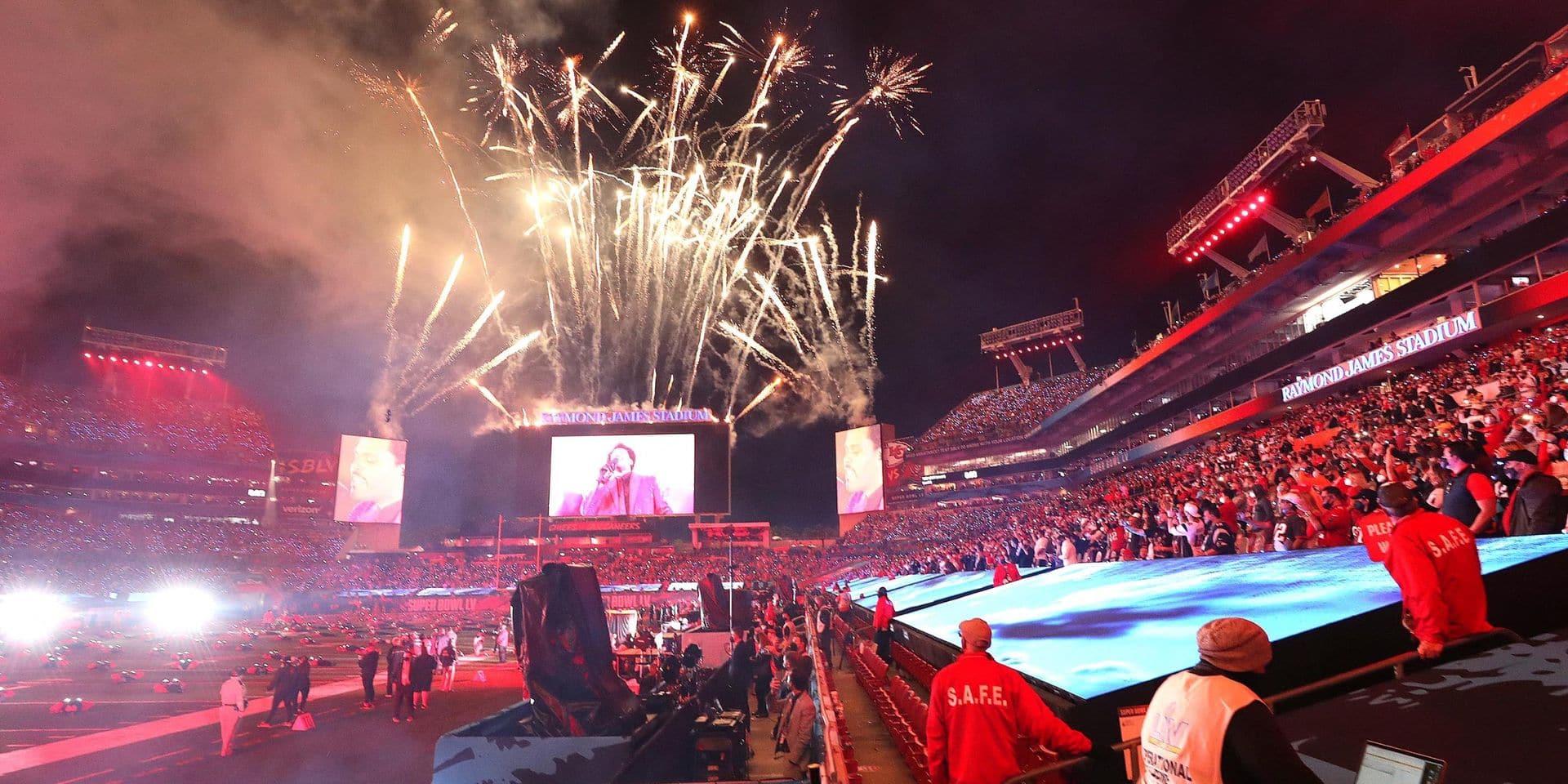 The Weeknd, lors du concert organisé à la mi-temps de ce 55ème Super Bowl.