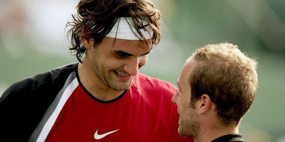 """Olivier Rochus parle de son vieil ami Roger Federer avant son retour à Doha: """"Je l'ai souvent pris dans mes bras pour le consoler"""""""