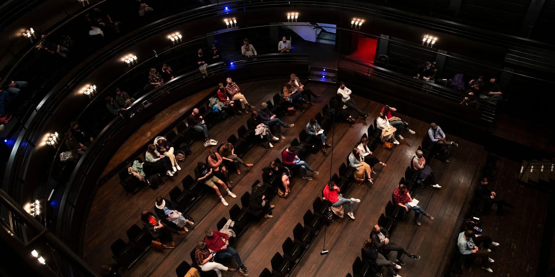 """Espoir pour le secteur culturel: les résultats après les événements-tests au Théâtre royal flamand sont """"très bons"""""""