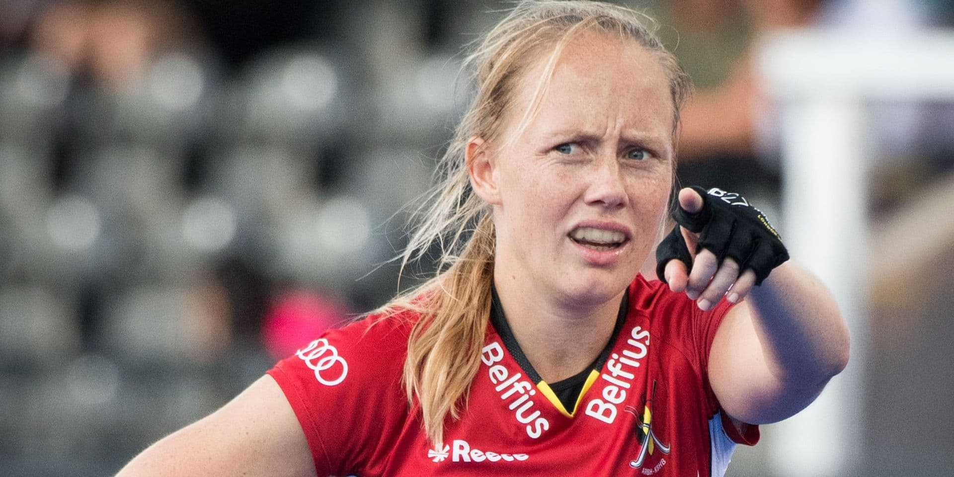 Belgium's Jill Boon pictured during the game between Spain and Belgium in the cross over at the Hockey Women's World Cup, in London, UK, Monday 30 July 2018. The Hockey Women's World Cup takes place from 21 July to 05 August at the Lee Valley Hockey Centre in London. BELGA PHOTO BENOIT DOPPAGNE