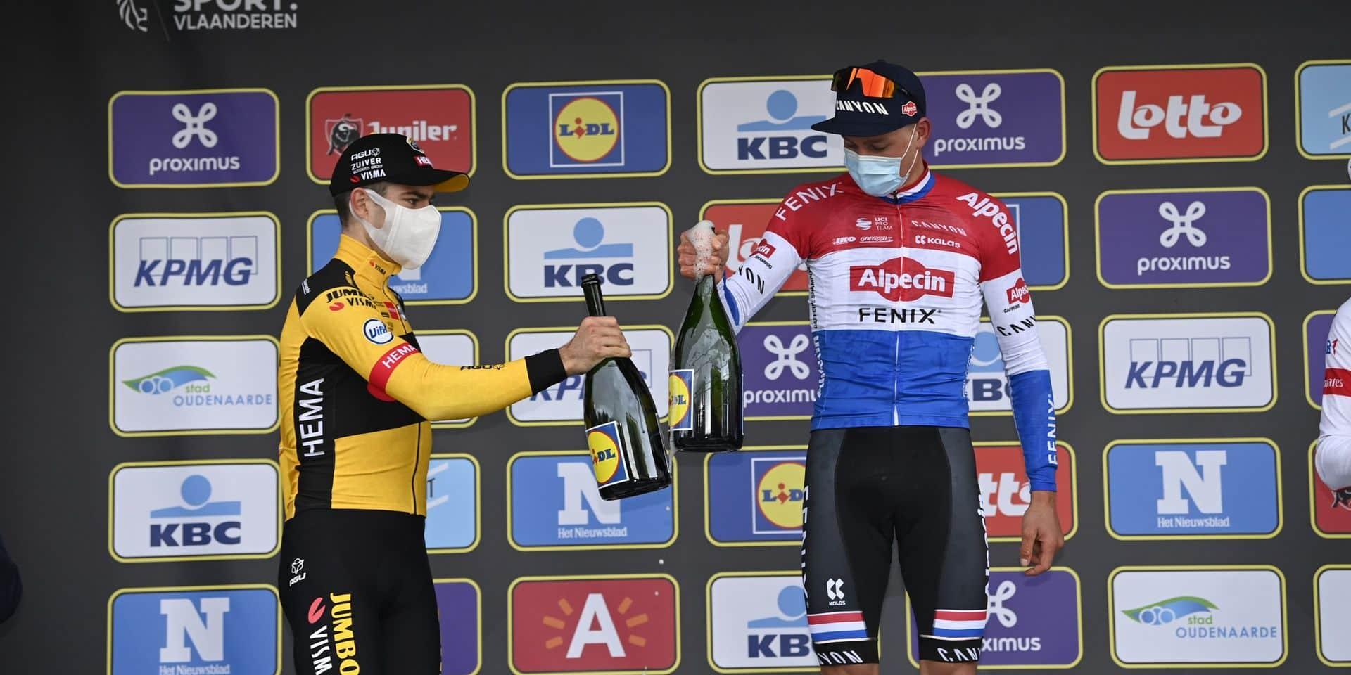 Quand Wout Van Aert et Mathieu Van der Poel mettent fin à la polémique après l'arrivée du Ronde